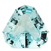 UNMOUNTED AQUAMARINE of fancy shaped triangular step cut, weighing 58.1 carats.