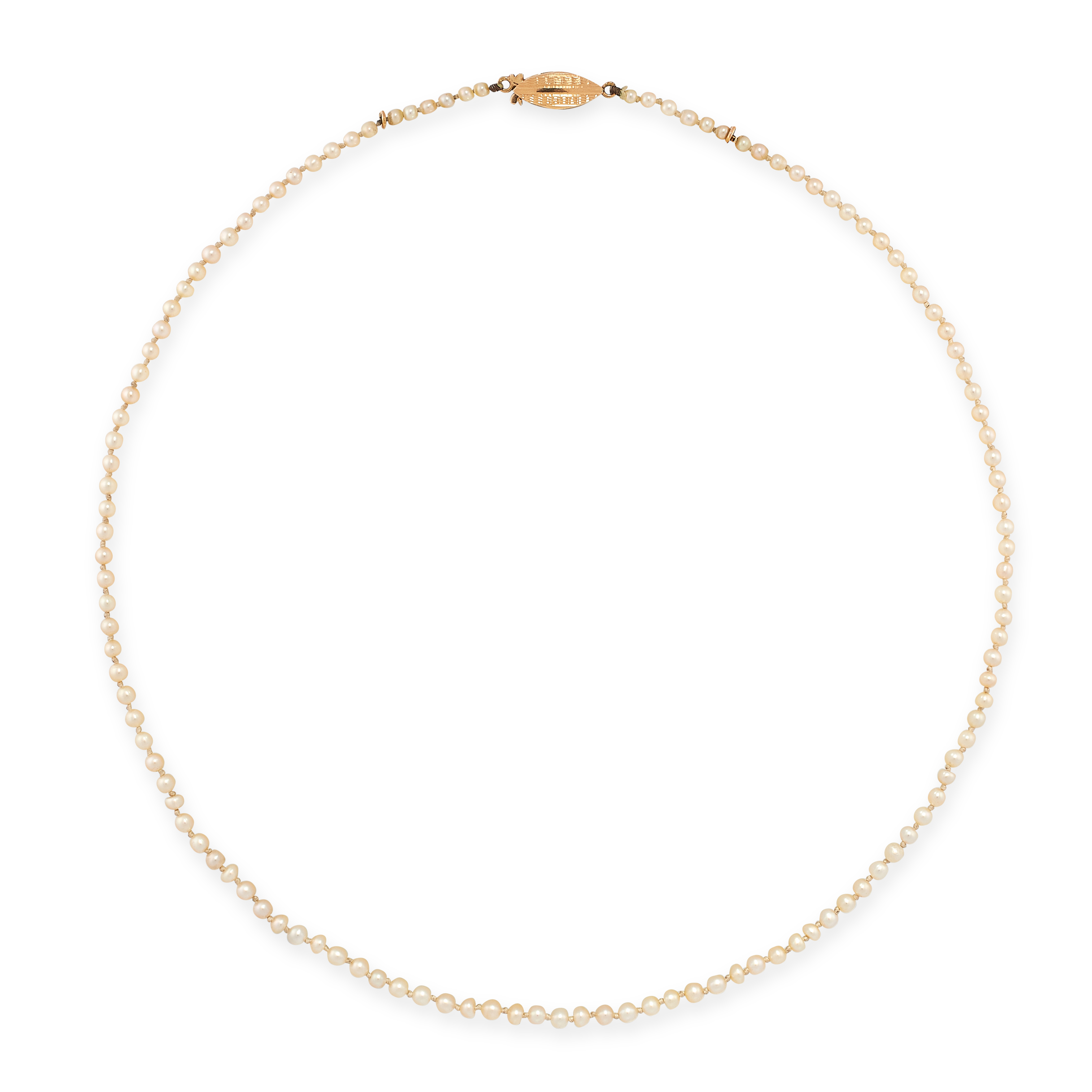 THREE NATURAL PEARL NECKLACES each comprising of a single row of natural pearls ranging from 1.4mm- - Image 3 of 3