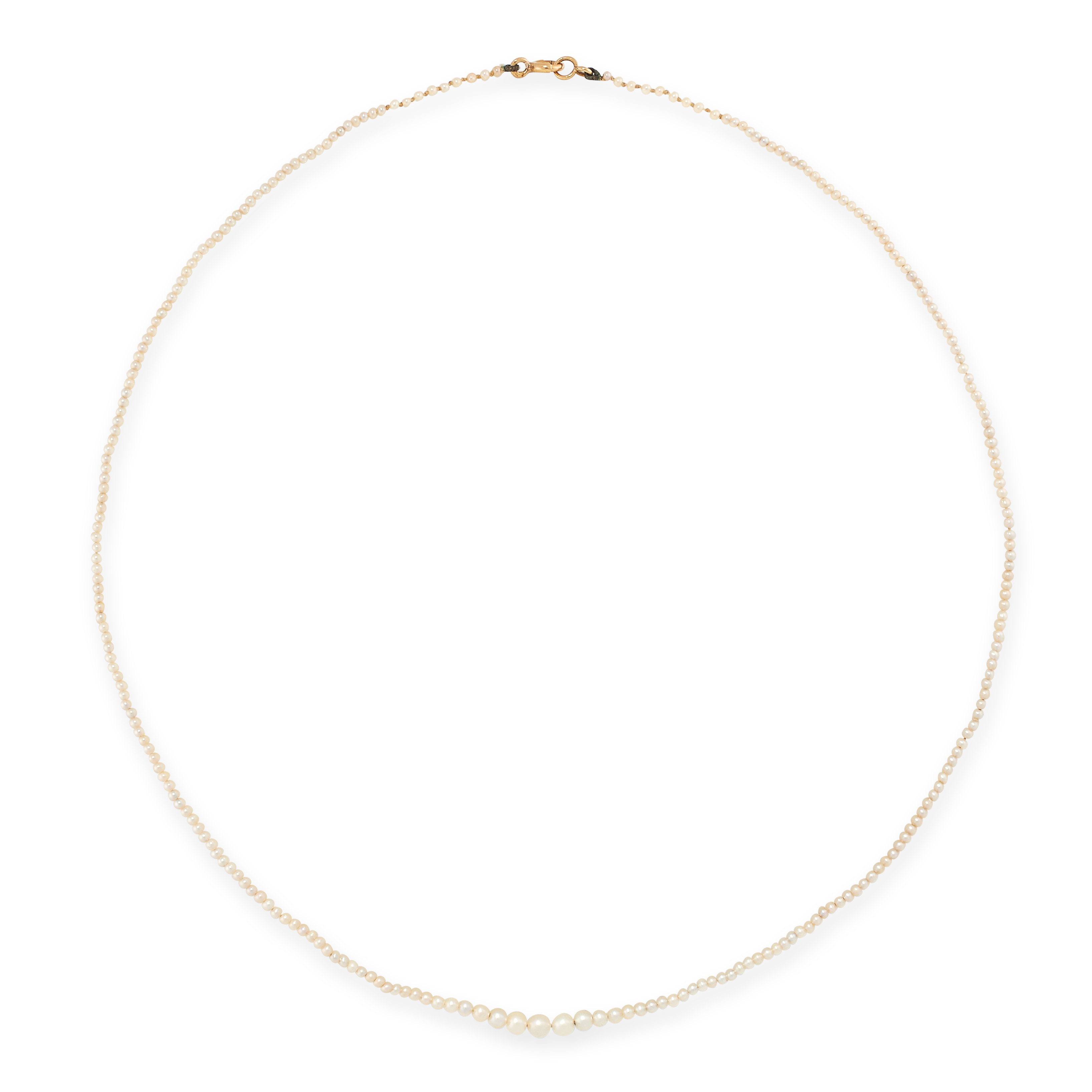 THREE NATURAL PEARL NECKLACES each comprising of a single row of natural pearls ranging from 1.4mm- - Image 2 of 3
