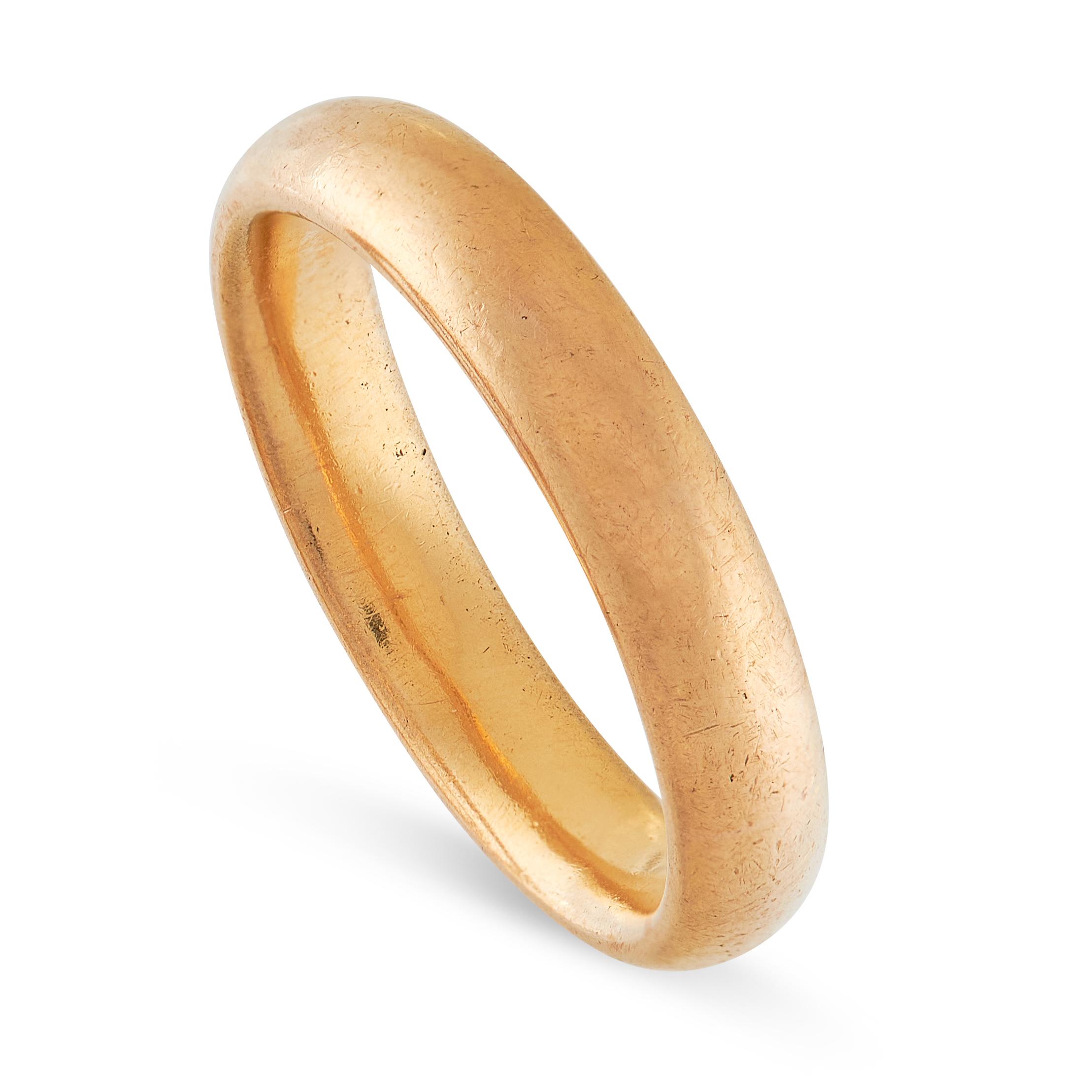 THREE WEDDING BAND RINGS in 22ct yellow gold, British hallmarks, sizes M / 6, R / 8.5, O / 7, - Image 6 of 6