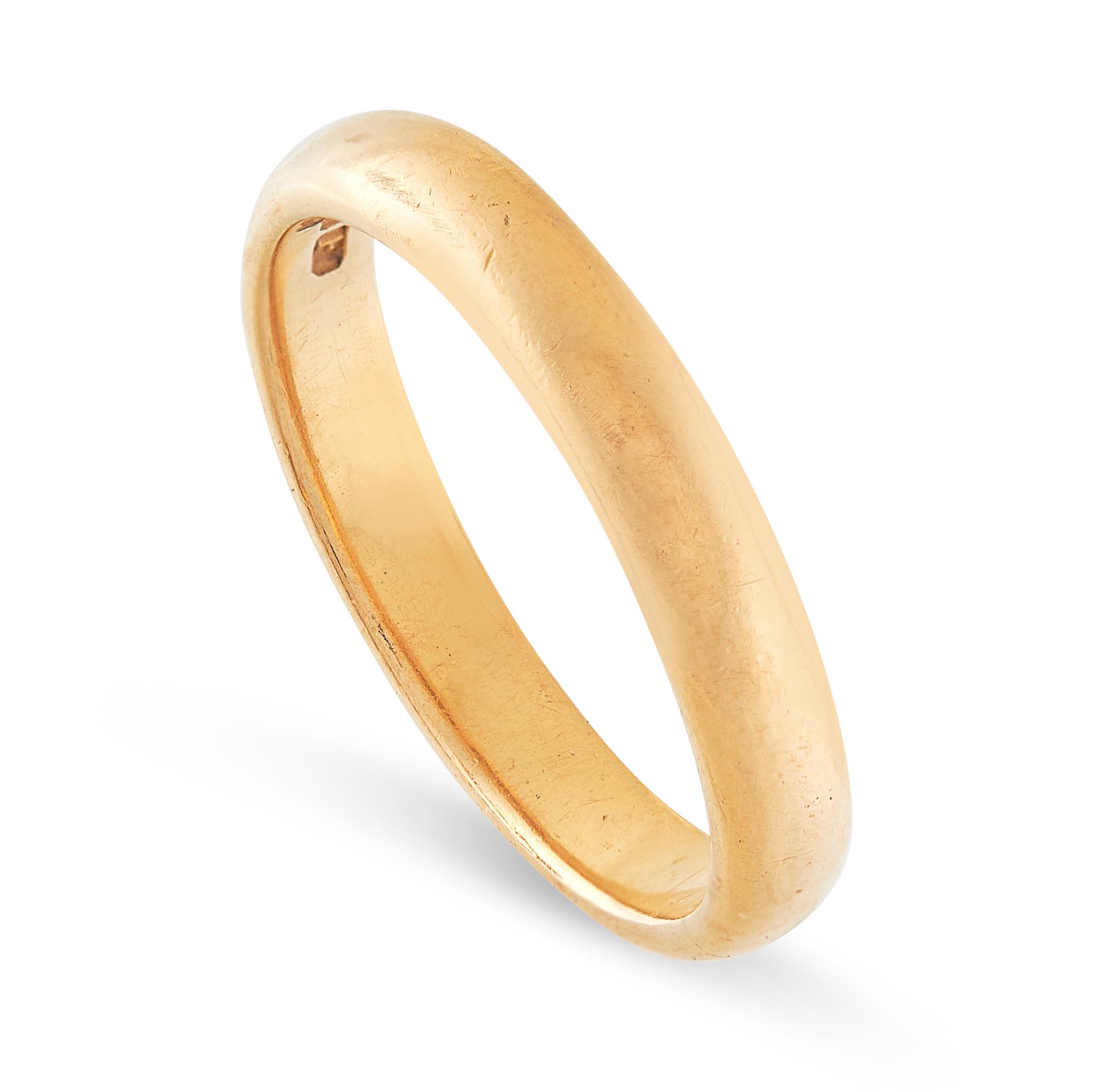 THREE WEDDING BAND RINGS in 22ct yellow gold, British hallmarks, sizes M / 6, R / 8.5, O / 7, - Image 5 of 6