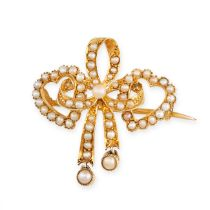 NO RESERVE -AN ANTIQUE VICTORIAN PEARL SWEETHEART BROOCH / PENDANT in 15ct yellow gold, designed to