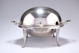 AN EARLY 20TH CENTURY ELECTROPLATED BREAKFAST WARMER