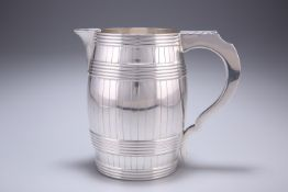 A GEORGE III SILVER BEER JUG, by Daniel Smith and Robert Sharp, London 1781, in the form of a