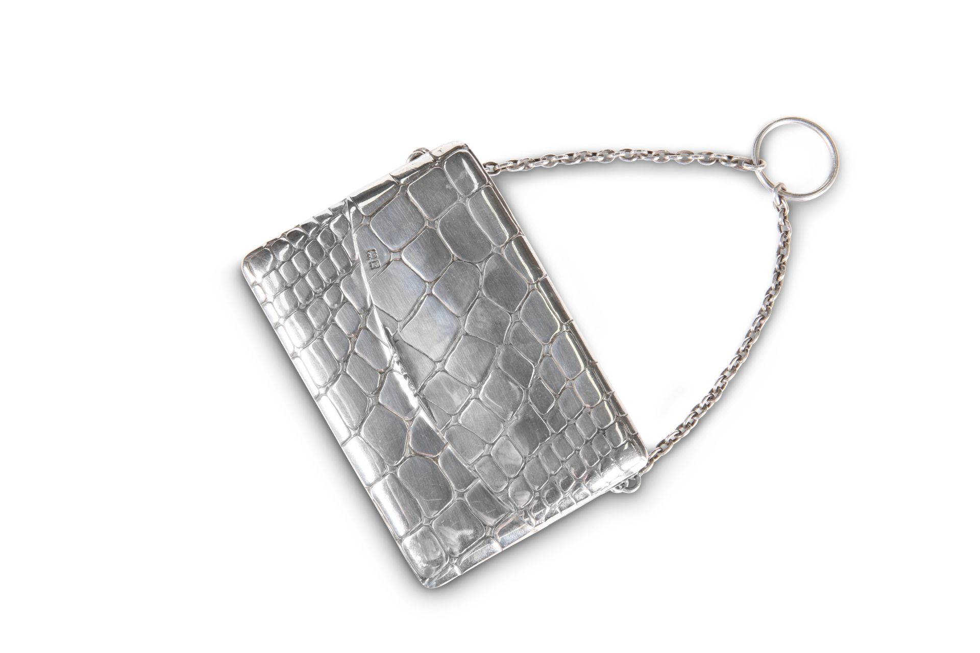 AN EDWARDIAN SILVER CARD CASE - Image 2 of 2