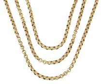 A 19TH CENTURY LONG BELCHER CHAIN NECKLACE