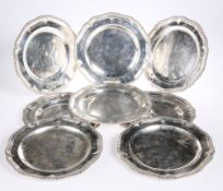 A SET OF EIGHT GEORGE III SILVER DESSERT PLATES