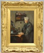 A*** SAYERS (19TH CENTURY), AS YOUNG AS EVER, signed lower left, oil on canvas, framed. 37cm by