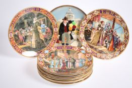 A set of ten Royal Doulton Kings and Queens of The Realm limited edition collector plates;