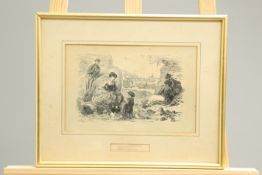 ~ A SET OF SIX GRAPHOTYPES OF SEA SIDE SKETCHES, nos. 1-6, framed. 18cm by 27.5cm