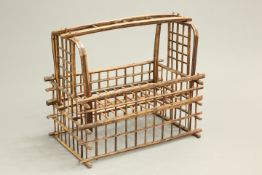AN ORIENTAL BAMBOO COT, of openwork design, probably early 20th century. 86.5cm long