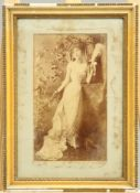 ~ A GROUP OF VICTORIAN AND LATER PORTRAIT PHOTOGRAPHS, nine photographs in four frames.