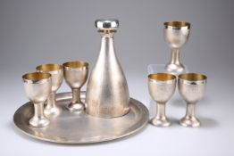 A 1970s EIGHT-PIECE SILVER DRINK SET