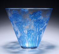 RENÉ LALIQUE (FRENCH, 1860-1945) A 'BLUETS' VASE, DESIGNED IN 1914
