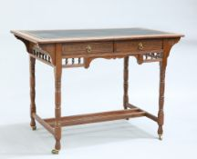 A MAHOGANY WRITING DESK, BY GILLOWS, LAST QUARTER OF 19TH CENTURY