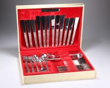 GERALD BENNEY (1930-2008) A VINERS STAINLESS STEEL SABLE PATTERN 38 PIECE CUTLERY SERVICE
