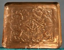 STYLE OF KESWICK SCHOOL OF INDUSTRIAL ART AN ARTS AND CRAFTS COPPER TRAY