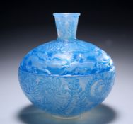 RENÉ LALIQUE (FRENCH, 1860-1945) A 'LIEVRES' OPALESCENT VASE, DESIGNED IN 1923