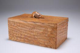 ROBERT THOMPSON OF KILBURN, A MOUSEMAN OAK TRINKET BOX