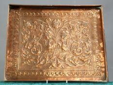 KESWICK SCHOOL OF INDUSTRIAL ART AN ARTS AND CRAFTS COPPER TRAY