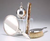 GEORG JENSEN, A DANISH STERLING SILVER DRESSING TABLE SET, DESIGNED BY HARALD NIELSEN