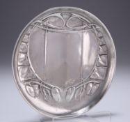 ARCHIBALD KNOX (1864-1933) A LIBERTY & CO TUDRIC PEWTER DISH