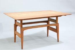 A DANISH TEAK METAMORPHIC COFFEE/DINING TABLE BY TRIOH