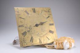 AN 18TH CENTURY 30 HOUR LONGCASE CLOCK MOVEMENT