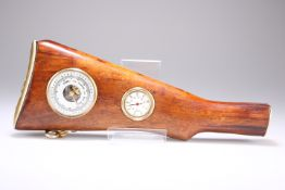 A PRESENTATION BAROMETER MOUNTED INTO A RIFLE STOCK