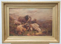 ATTRIBUTED TO CHARLES JONES, SHEEP IN A HIGHLAND LANDSCAPE