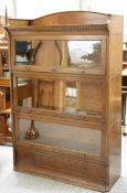 AN EARLY 20TH CENTURY LEBUS OAK BOOKCASE