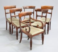 A MATCHED SET OF SIX REGENCY DINING CHAIRS
