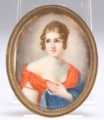 AFTER GARDELLI, AN EARLY 20TH CENTURY PORTRAIT MINIATURE ON IVORY