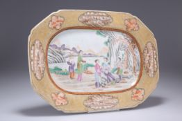 AN 18TH CENTURY CHINESE EXPORT PORCELAIN DISH