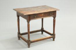 A 17TH CENTURY OAK SIDE TABLE