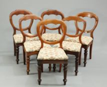 A SET OF SIX BALLOON BACK CHAIRS