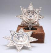 TWO HM SILVER ANCIENT ORDER OF FORESTERS SASH STARS