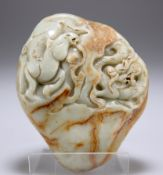 A CHINESE JADE BOULDER CARVING