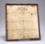 A FRAMED AND GLAZED DISBANDMENT DISCHARGE CERTIFICATE