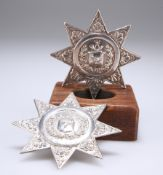 TWO HM SILVER SASH STARS OF THE ANCIENT ORDER OF FORESTERS