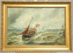 BERNARD BENEDICT HEMY (1844-1910), FISHING BOAT IN