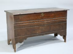 A 17TH CENTURY SIX PLANK CHEST