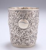 A CHINESE EXPORT SILVER BEAKER