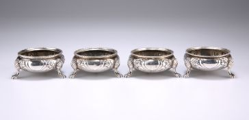 A SET OF FOUR VICTORIAN SILVER SALTS