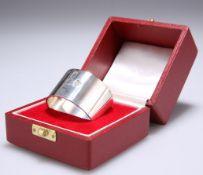 AN ELIZABETH II SILVER NAPKIN RING