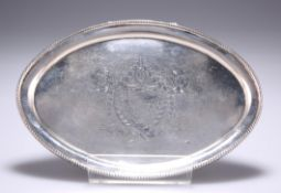 A GEORGE III STYLE SILVER TEAPOT STAND