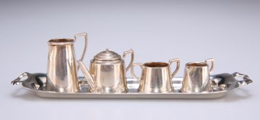 AN ELIZABETH II SILVER MINIATURE TEA SERVICE