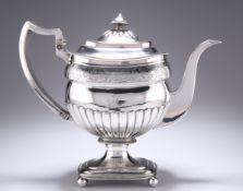 A GEORGE III PROVINCIAL SILVER COFFEE POT