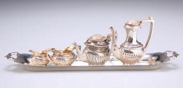 AN ELIZABETH II SILVER MINIATURE TEA AND COFFEE SERVICE