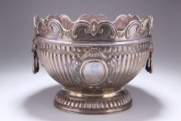 A LARGE EDWARDIAN SILVER MONTEITH